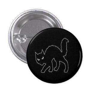 Gothic Halloween Scary Kitty Cat 3 Cm Round Badge