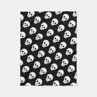 Gothic Halloween skull pattern Fleece Blanket