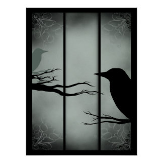 Gothic Haunted Forest Poster