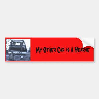 Gothic Hearse Bumpersticker Bumper Sticker
