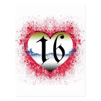Gothic Heart 16th Postcard