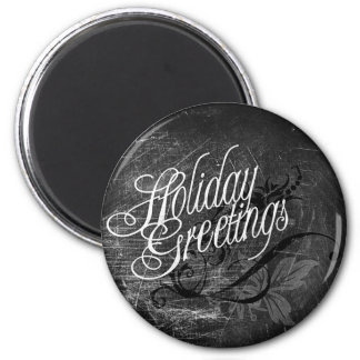 Gothic Holiday Greetings 6 Cm Round Magnet