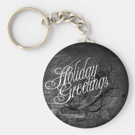 Gothic Holiday Greetings Key Chains