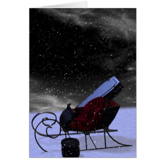 Gothic Holiday: Winter Landscape Sleigh Card