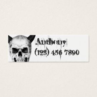 Gothic Horned Skull Skinny Profile Card