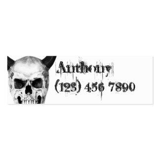 Gothic Horned Skull Skinny Profile Card Pack Of Skinny Business Cards