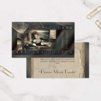 Gothic Horror Movie Lady Vampire Business Card