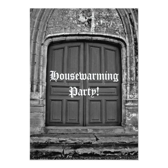Gothic housewarming party card