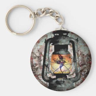 Gothic Hummingbird Lantern Key Ring