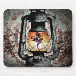 Gothic Hummingbird Lantern Mouse Pad