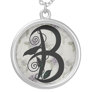 'Gothic Initial B' Necklace
