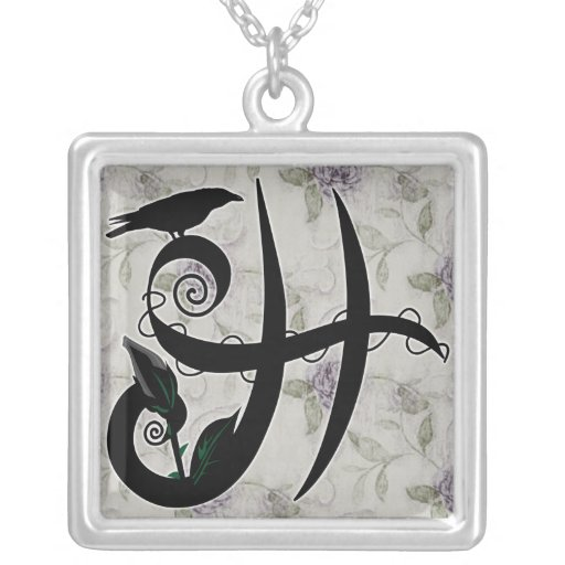 'Gothic Initial H' Necklace