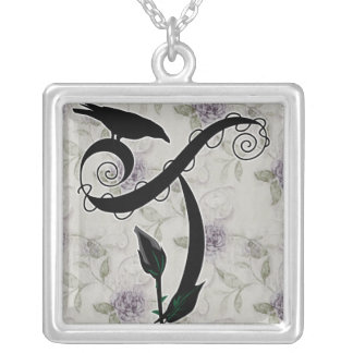 'Gothic Initial T' Necklace