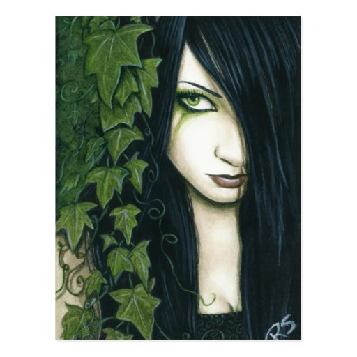 Gothic Ivy Fantasy Postcard