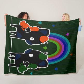Gothic Kawaii Unicorn Plush Fleece Blanket