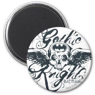 Gothic Knight Skull 6 Cm Round Magnet