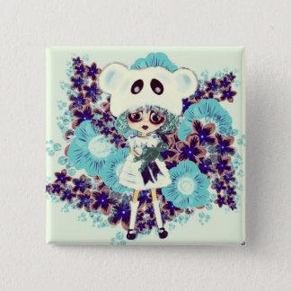 Gothic Lolita child ice Princess PinkyP - why sad? 15 Cm Square Badge
