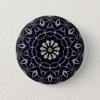 Gothic mandala 6 cm round badge
