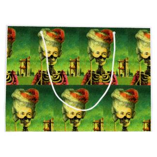 Gothic Masked Skeleton Large Gift Bag