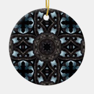 Gothic medieval crosses and medallions ceramic ornament