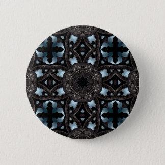 Gothic medieval kaleidoscope 6 cm round badge