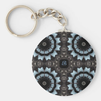 Gothic medieval kaleidoscope monogram B Key Chain