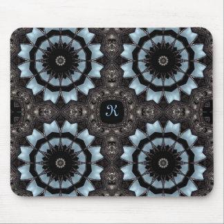 Gothic medieval kaleidoscope monogram K Mouse Pad