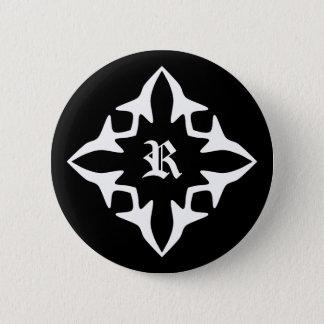 Gothic medieval monogram 6 cm round badge
