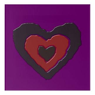 Gothic Melting Love Heart Acrylic Wall Art