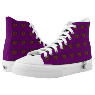 Gothic Melting Love Heart Hearts Shoes Printed Shoes