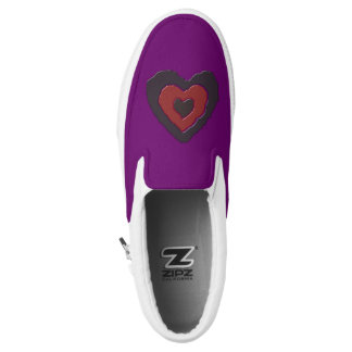 Gothic Melting Love Heart Slip On Shoes Printed Shoes