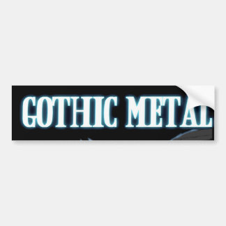 Gothic Metal Bumper Sticker
