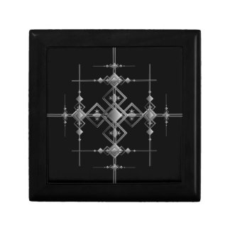 Gothic metallic pattern. gift box
