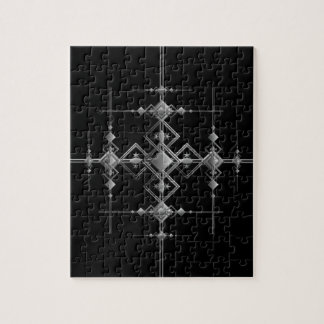 Gothic metallic pattern. jigsaw puzzle