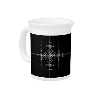 Gothic metallic pattern. pitcher