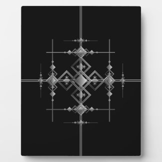 Gothic metallic pattern. plaque