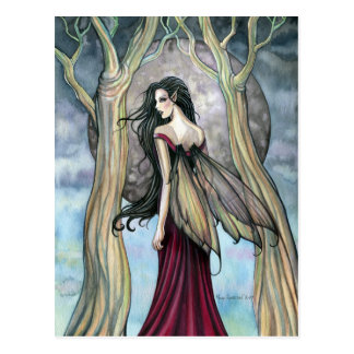 Gothic Night Fairy Postcard by Molly Harrison