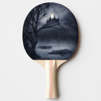 Gothic Night Fantasy Ping Pong Paddle