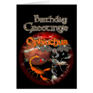 Gothic Ophiuchus Zodiac Birthday by Valxart Card