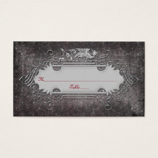 Gothic or Medieval Wedding Place Cards