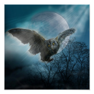 Gothic Owl Poster