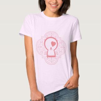 Gothic Pattern Skull Logo in pink Shirts