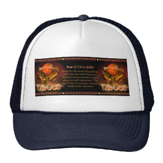 Gothic Pisces zodiac astrology by Valxart.com Mesh Hat