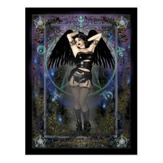 Gothic Postcard - Gothic Vampiress