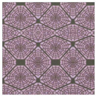 Gothic Prim Spiderwebs Witch Prim Spooky Purple Fabric