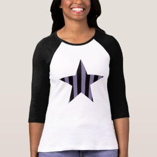 Gothic punk striped star tee shirt