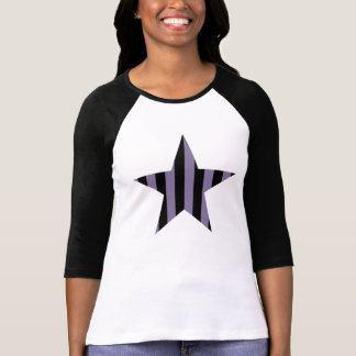 Gothic punk striped star tee shirts
