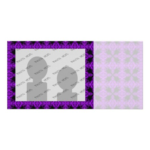 Gothic Purple and Black Pattern Picture Card