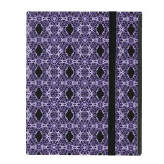 Gothic Purple Lace Fractal Pattern Covers For iPad