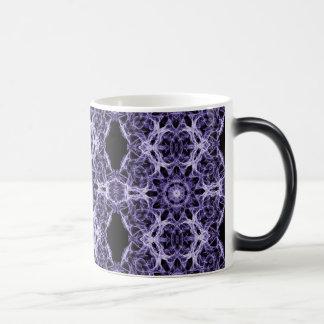 Gothic Purple Lace Fractal Pattern Morphing Mug